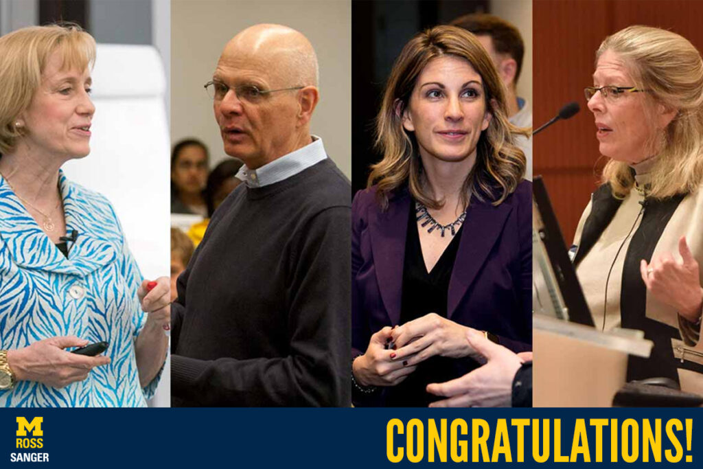 Faculty honored with awards at AOM headshots