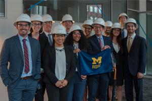 U-M BEC students at a company